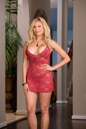 Women's Plus Size Lingerie - Stretch Lace Chemise
