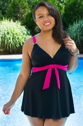 Women's Plus Size Swimwear - Always 4 Me Belize Swimdress