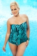 Women's Plus Size Swimwear - Always 4 Me - Serpent  Underwire Bandeau Swimsuit