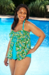 Always For Me Chic Prints - Baja 2 Pc Tankini - NO RETURNS