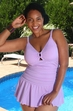 Women's Plus Size Swimwear - Always For Me Chic Solids Illusion Suit Style #67165W - LILAC $89