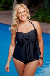 Women's Plus Size Swimwear - Always For Me Chic Solids - Manor 2 Piece Tankini