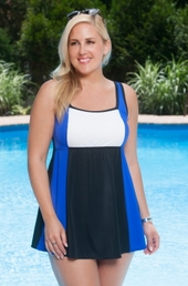 Always For Me In Control Colorblock Plus Size Swimdress