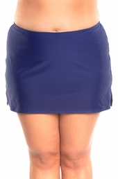 "Women's Plus Size Swimwear - Always For Me Separates 14"" Swim Skirt w/ Brief - $45"