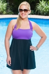 Always For Me In Control Wrap Bandeau Plus Size Swimdress