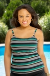 Women's Plus Size Swimwear - Captiva Horizon Underwire Tankini Top