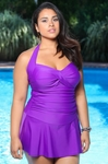 Women's Plus Size Swimwear - Carol Wior Underwire Sweetheart Bandeau - NO RETURNS