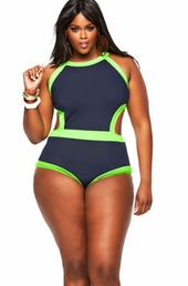 Women's Plus Size Swimwear - Monif C Cabo Monokini - NO RETURNS
