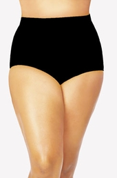 Women's Plus Size Swimwear - Monif C Separates Sao Paulo Hi Waist Bikini Bottoms ONLY #702B - Black ON SALE $52.50