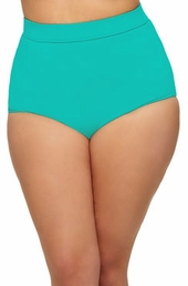Women's Plus Size Swimwear - Monif C Separates Sao Paulo Hi Waist Bikini Bottoms ONLY #702B - Aqua ON SALE $35