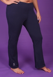 Women's Plus Size Workout - Plus Size Yoga / Bootleg Pant - Navy - Size 5X