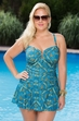 Women's Plus Size Swimwear  Always For Me Chic Prints San Jose Swim Mini