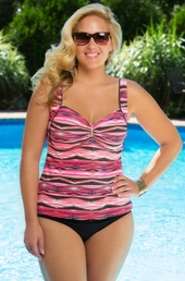 Women's Plus Size Swimwear - Captiva Separates Sun Reflection Tankini Top