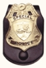 Badge Belt Clip Leather