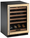 2175WCCOL00 U-Line 2000 Series Undercounter 48 Bottle Wine Captain - Field Reversible, Right Hinge - Custom Panel - Stainless Steel Door Option