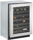 "3024WCS-01 U-Line Modular 3000 Series 24"" Wine Captain Digitally Controlled Single-Zone Convection Cooling System - Left Hinge - Stainless Steel"