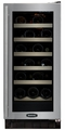 "30WCM-BB-G-R Marvel 15"" Luxury Undercounter 23 Bottle Wine Cellar - Black Cabinet & Black Frame Glass Door - Right Hinge"