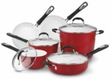 5910R CUISINART Elements Red 10 Pc Cookware Set