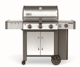 """61004001 59"""" Weber Genesis 2 LX S-340 Outdoor Liquid Propane Grill with High Performance Burners and Infinity Ignition  - Stainless Steel"""