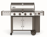 """62004001 65"""" Weber Genesis 2 LX S-440 Outdoor Liquid Propane Grill with High Performance Burners and Infinity Ignition  - Stainless Steel"""