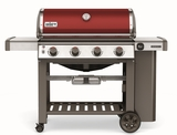 """62030001 61"""" Weber Genesis 2 E-410 Outdoor Liquid Propane Grill with 4 Stainless Steel Burners and Infinity Ignition  - Crimson"""