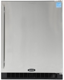 "6ADAM-WW-O-LR Marvel Undercounter 24"" ADA Height Refrigerator with Lock - White Cabinet & Overlay Door - Right Hinge"
