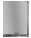 "6AROMSSBLL Marvel 24"" Outdoor Undercounter Refrigerator - Stainless Steel Cabinet and Door with Door Lock - Left Hinge"