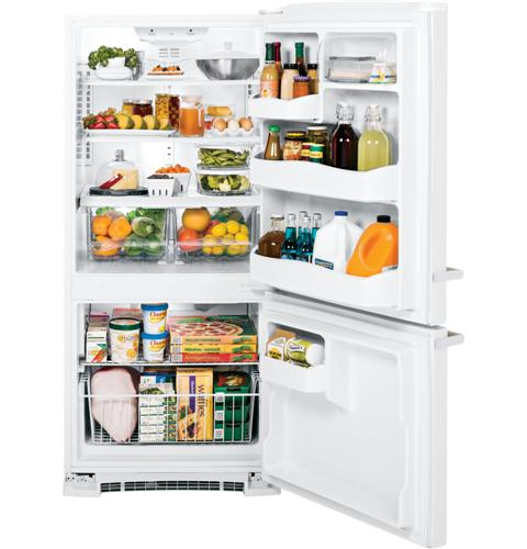 ABE20EGEWS GE Artistry Series ENERGY STAR 20.3 Cu. Ft. Bottom Freezer Refrigerator - White