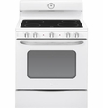 "ABS45DFWS GE Artistry 30"" Free Standing Electric Range with 8"" Power Boil Element - White"