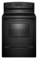 AER5630BAB Amana 4.8 cu. ft. Electric Range with Spillsaver Ceramic-Glass Upswept Cooktop - Black