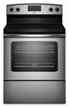 AER5630BAS Amana 4.8 cu. ft. Electric Range with Spillsaver Ceramic-Glass Upswept Cooktop - Stainless Steel
