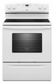 AER5630BAW Amana 4.8 cu. ft. Electric Range with Spillsaver Ceramic-Glass Upswept Cooktop - White