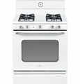 "AGBS45DEFWS GE Artistry 30"" Free Standing 4.8 Cu. Ft. Gas Range with 12,5000 BTU Burner - White"