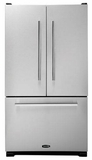 APRO36FDBNSS AGA Pro+ 20 cu. ft. French Door Refrigerator with Brushed Nickel Handles - Stainless Steel
