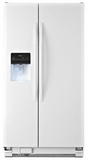 ASD2575BRW Amana 25.5 cu. ft. Side-by-Side Refrigerator with Water Dispenser - White