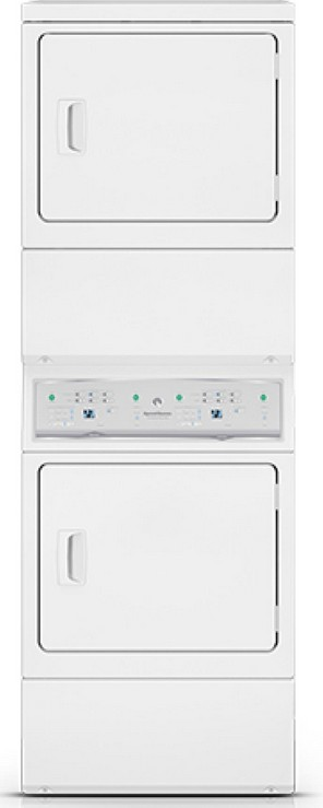 ASEE8AGW173TW01 Speed Queen Stacked Electric Dryer/Dryer with 7 Cu. Ft. Each - White