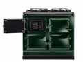ATC3BRG AGA Total Control 3 Electric Range Cooker with Cast Iron Radiant Heat Oven - British Racing Green