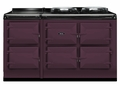 ATC5AUB AGA Total Control 5 Electric Range Cooker with Cast Iron Radiant Heat - Aubergine