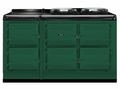 ATC5BRG  AGA Total Control 5 Electric Range Cooker with Cast Iron Radiant Heat - British Racing Green