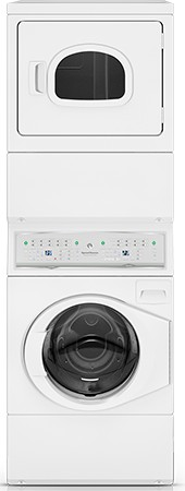 ATEE9AGP173TW01 Speed Queen 3.42 Cu. Ft. Stacked Washer/Electric Dryer Combo - White