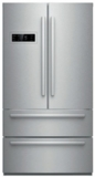 "B21CL80SNS Bosch 36"" Counter-Depth 4-Door Refrigerator with a Dual AirCool System and 4 Adjustable Glass Shelves - Stainless Steel"
