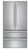 "B21CL81SNS Bosch 36"" Counter Depth French Door 20.7 Cu Ft. Refrigerator with Supercool and SuperFreeze - Stainless Steel"