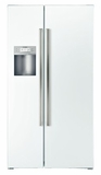"B22CS50SNW Bosch Energy Star 36"" Linea 500 Series Counter Depth Side by Side Refrigerator with Dispenser - White"