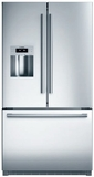 "B26FT80SNS Bosch 36"" French Door 25.9 Cu Ft. Refrigerator with VitaFresh, MultiAirFlow & Ice/Water Dispenser - Stainless Steel"