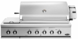"BH148RSL DCS 48"" Traditional Grill With Rotisserie and Side Burners with Ceramic Radiant Technology - LP Gas - Stainless Steel"