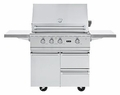 "BQC5361SS Viking 36"" Ultra-Premium Gas Grill Cart - Stainless Steel"