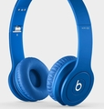BTONSOLDICBLU Beats by Dr. Dre Solo HD Drenched Color Headphones - Matte Blue Finish