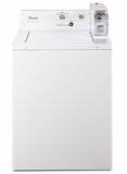 "CAE2743BQ 27"" Whirlpool Top-Load Commercial Washer with 2.9 cu.ft Capacity and Adjustable Leveling Legs - White"