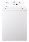"CAE2793BQ 27"" Whirlpool Non-Metered Top-Load Commercial Washer with 2.9 cu.ft Capacity and Adjustable Leveling Legs - White"