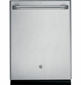 CDT765SSFSS GE Cafe Series Stainless Interior Built-In Dishwasher with Hidden Controls - Stainless Steel